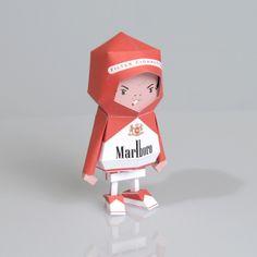 [ Marlboro ] Paper toy of Boogiehood by boogun chung, via Behance