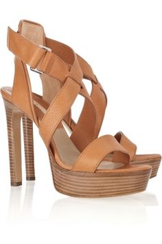 I'd wear these Michael Kors shoes because they have timeless style. And I love the color of the leather.
