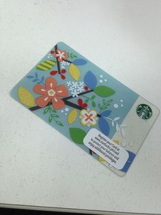 Starbucks Philippines Floral Gift Card