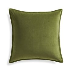 """Brenner Yellow 20"""" Velvet Pillow with Down-Alternative Insert 