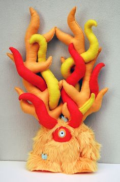 Fire Monster  . wow. don't think i could make this but it is awesome