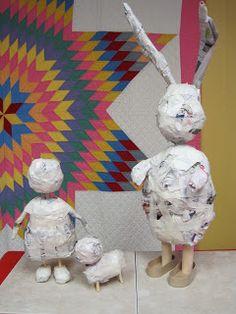Risultati immagini per Julie Arkell Paper Mache Clay, Paper Mache Sculpture, Paper Mache Crafts, Paper Dolls, Art Dolls, Origami, Newspaper Basket, Cardboard Art, Paperclay