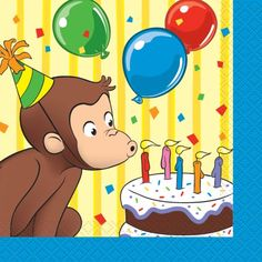 Celebrate with the Curious George Beverage Napkins for your party. Find amazing selections & prices on all birthday decorations & supplies at Birthday in a Box. 1st Birthday Party Supplies, 1st Birthday Parties, Birthday Party Decorations, Party Themes, Birthday Ideas, Party Ideas, Birthday Quotes, 3rd Birthday, Birthday Cakes