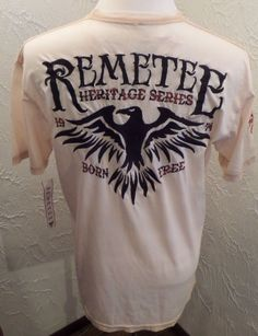 REMETEE Heritage Series1974 Born Free Sz LARGE Two Tone Beige NWT ( SHARP )  #Remetee #GraphicTee