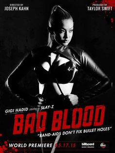 Gigi Hadid in the Taylor Swift's 'Bad Blood' poster