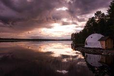 Aurora Glamping, Harriniva Hotels & Safaris, Muonio, Finnish Lapland. Photo from Matkakuume.net blog
