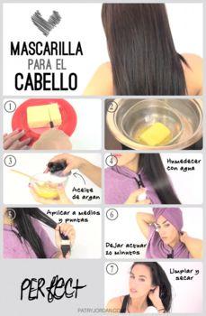 Mascarilla para el cabello seco o dañado. Más mascarillas en www.secretosdechicas.es
