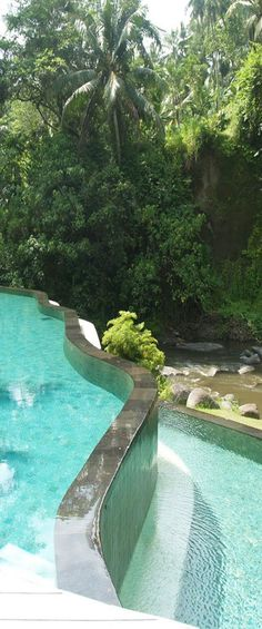 Pool at the Four Seasons Resort in Bali
