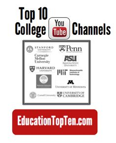 Top 10 College YouTube Channels: #College #Education