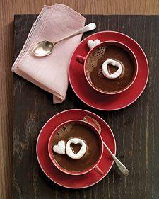Hot Cocoa w/ Marshmallow Hearts