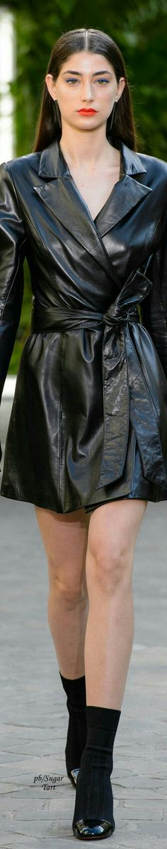 Leather trench coat fashion