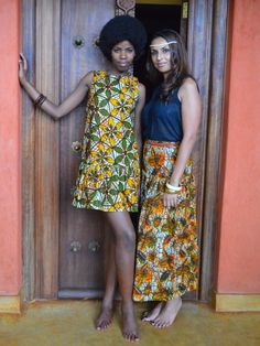 Shift dress & maxi skirt