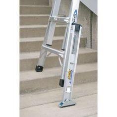 Werner Ladder Leveler: For Aluminum Multi Telescoping Ladders/Fiberglass U0026  Aluminum Extension Ladders