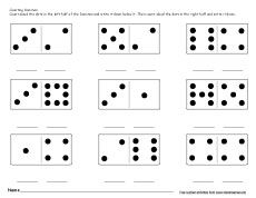 Compare the dominos sets worksheet for preschoolers