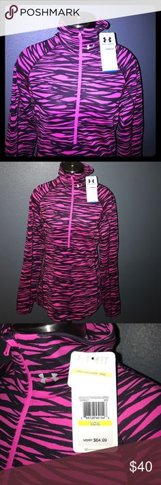 """NWT Under Armour Cold Gear Sweater Brand new with tags never worn and color combo is gorgeous!! 87% Polyester 13""""Elastane Under Armour Sweaters"""