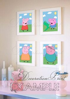 Printable decorative paper Peppa Pig by DecorationPrint on Etsy