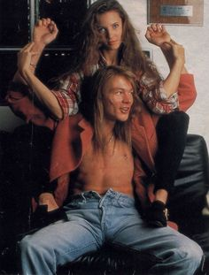 Erin Everly and Axl Rose