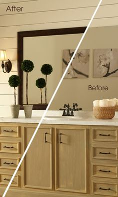 It's easy to add style to your reflection! A MirrorMate mirror frame goes up in minutes for an instant makeover.