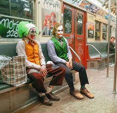 i photoshopped Leto's Joker next to joaquin-Ledger Joker Heath Joker, Joker Batman, Gotham Batman, Batman Art, Batman Robin, Art Du Joker, Der Joker, Photos Joker, Joker Images