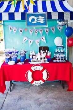 Love Boat Themed Bon Voyage Party Events Pinterest Bon - Cruise ship theme party