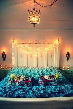 Low Cost Flower Fairy Lights Bedroom Decor Ideainspiration - Christmas light ideas for bedrooms