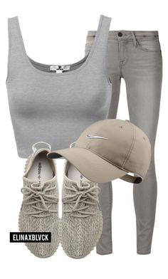 """""""Untitled #1403"""" by elinaxblack ❤ liked on Polyvore featuring Frame Denim, adidas Originals and NIKE"""