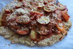 Cauliflower Crust Pizza with all the toppings.