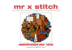 Graffiti Cross Stitch 008 Zeds by MrXStitch on Etsy. This is the seventh in our Graffiti Series, featuring the geometrical muralism style of Amsterdam-based artist Zeds. We realise that different people like different pattern styles, so each Mr X Stitch design comes with three patterns: - Symbols - Colour Blocks - Symbols and Colour Blocks. The pattern chart comes with instructions, floss list and a mini-poster of the design as well!
