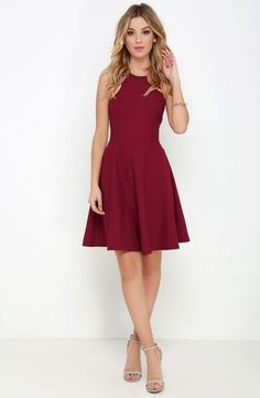 Now or Skater Burgundy Dress - What& the perfect sweet treat to start off your week? How about the Now or Skater Burgundy Dress? (and guys, it has pockets!) Source by EverythingLILY - Hoco Dresses, Dance Dresses, Pretty Dresses, Homecoming Dresses, Beautiful Dresses, Casual Dresses, Formal Dresses, Banquet Dresses, Outfits In Rot