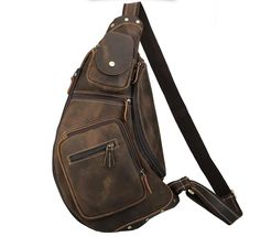 Sling Bags for Men Chest Pack Leather Sling Bags - Canvas Bag Leather Bag CanvasBag. Designer Inspired Handbags, Cheap Designer Handbags, Cheap Handbags, Sling Bags, Sling Backpack, Shoulder Sling, Black Backpack, Fashion Backpack, Shopping Bag