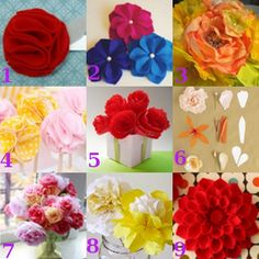 Sometimes faux flowers are just better than the real thing. They're cheap, they last forever, they won't wilt, and they make fun craft projects! You can make faux flowers out of felt, fabric, tissue paper, coffee filters, and more. Here are some cool