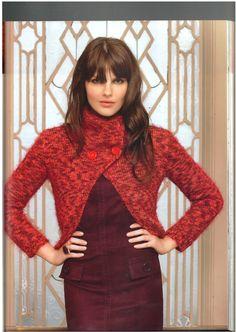 Tita Carré - Agulha e tricot by Tita Carré: Tricot - Blusa Vermelha.