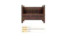 Old Original Re-purposed Pitara Sofa W/Storage and Cushion