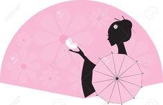 silhouette of japanese lady - Google Search
