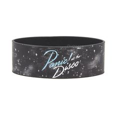 Panic! At The Disco Galaxy Rubber Bracelet Hot Topic ($7) ❤ liked on Polyvore featuring jewelry, bracelets, cosmic jewelry, rubber jewelry, disco jewelry and rubber bangles