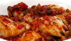Cod Portuguese - the brandy (or wine) in this recipe, together with the sun-dried tomatoes, gives a beautifully rich flavour to the cod. Dutch Recipes, Portuguese Recipes, Cooking Recipes, Healthy Recipes, Cooking Fish, Healthy Food, Fish Dishes, Seafood Dishes, Fish And Seafood