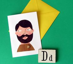 Fathers Day Outdoorsy Dad Card by samanthastas on Etsy, £4.00