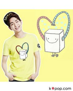K2POP - SHINEE COLLABORATION WITH SKECHERS & NAVER ONEW T-SHIRT ( DESIGN BY SHINEE )