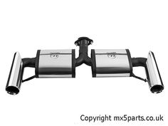 Stainless Steel Race Exhaust Rear Silencer, Mazda MX5 Mk3