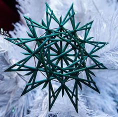 Traditional German straw star ornament by RedRowanDesigns on Etsy, $8.00