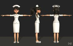 Nurse | 3D model Nurse Art, Background Images For Editing, 3d Character, 3d Animation, 2d, Characters, Model, Art Reference, Drawings