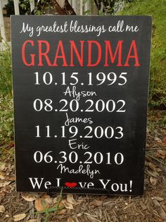 Personalized Grandparents Gift  Moms Greatest by CastleInnDesigns