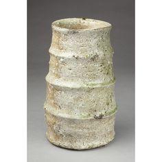 "catherine-white: "" •   Yoshida, Yoshihiko, born 1936 •   [Vase] Stoneware with natural ash glaze, reduced Shigaraki type """