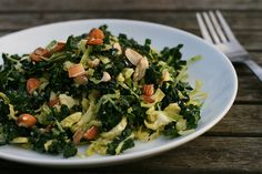 Raw Kale and Brussels Sprouts Salad