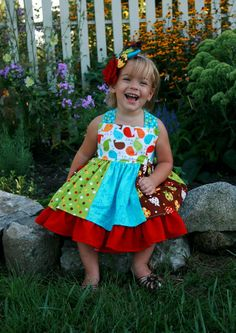 Mia's Reverse Knot Twirly Dress    Create Kids Couture