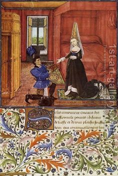 Miniature-From-Le-Livre-Du-Coeur-D-Amour-Epris-By-King-Rene-I-Of-Anjou-2.jpg (401×600)