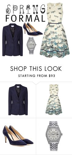 """""""Spring Formal: Dragonfly dress"""" by scottishfiddlerfromengland ❤ liked on Polyvore featuring Reiss, Gianvito Rossi and Rolex"""