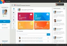 Work management application by Pablo Chavida, via Behance