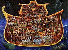 L'arche de Noé : vue en coupe