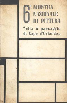 Catalogo Mostra 1963 6° mostra nazionale di pittura Capo d'Orlando, Sicilia
